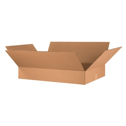 "Corrugated Boxes, 36 x 24 x 6"", Kraft, Flat"