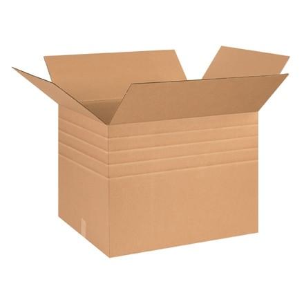 "Single Wall Corrugated Boxes, 26 x 20 x 20"", Multi-Depth, 44 ECT"