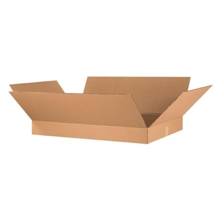"Corrugated Boxes, 36 x 24 x 4"", Kraft, Flat"