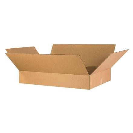 "Corrugated Boxes, 36 x 18 x 6"", Kraft, Flat"
