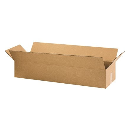 "Corrugated Boxes, 36 x 12 x 6"", Kraft, Flat"
