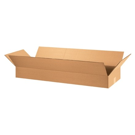 "Corrugated Boxes, 36 x 12 x 4"", Kraft, Flat"