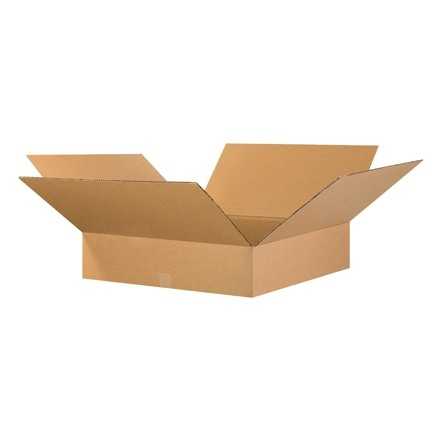 "Corrugated Boxes, 26 x 26 x 4"", Kraft, Flat"