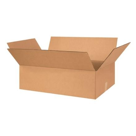 "Corrugated Boxes, 26 x 15 x 5"", Kraft, Flat"
