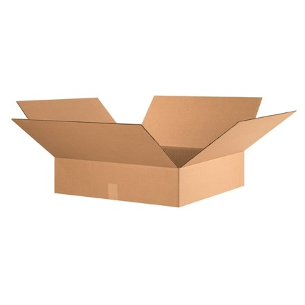 "Corrugated Boxes, 24 x 24 x 6"", Kraft, Flat"