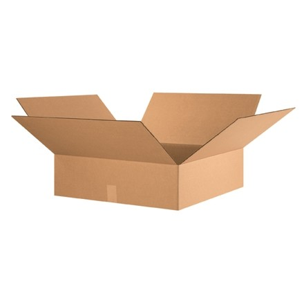 "Corrugated Boxes, 24 x 24 x 7"", Kraft, Flat"