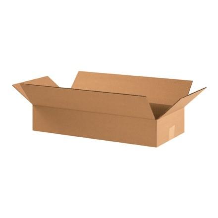 "Corrugated Boxes, 22 x 10 x 4"", Kraft, Flat"