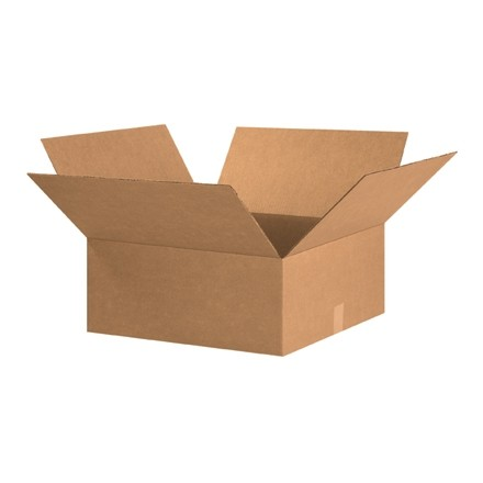 "Corrugated Boxes, 20 x 20 x 7"", Kraft, Flat"