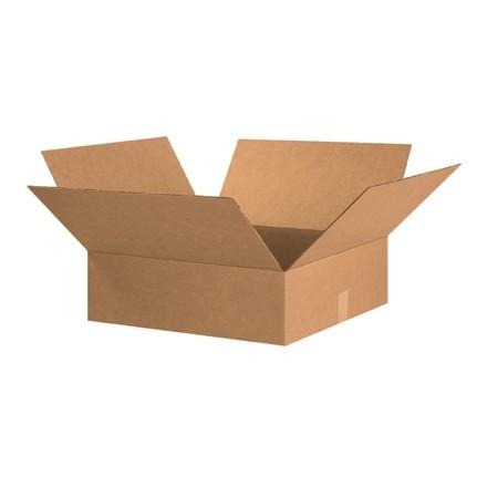 "Corrugated Boxes, 20 x 20 x 6"", Kraft, Flat"