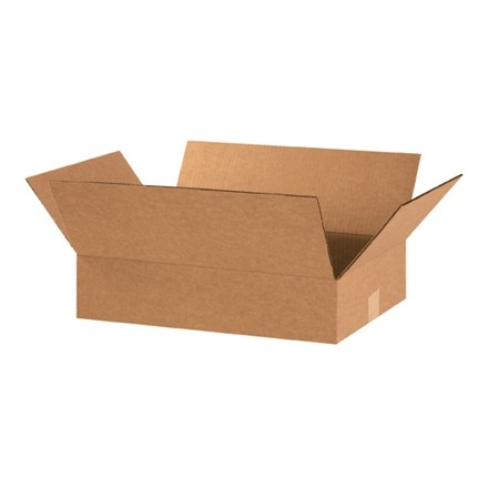 "Corrugated Boxes, 20 x 12 x 4"", Kraft, Flat"