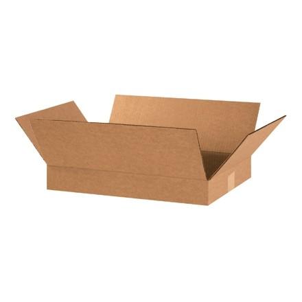 "Corrugated Boxes, 20 x 12 x 3"", Kraft, Flat"