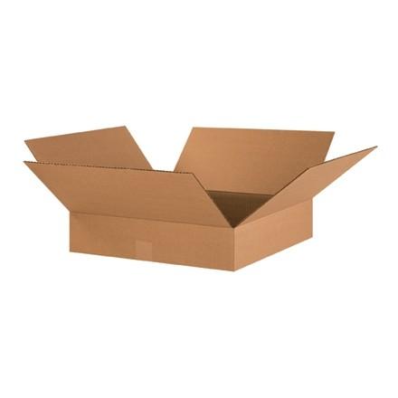 "Corrugated Boxes, 17 x 17 x 4"", Kraft, Flat"