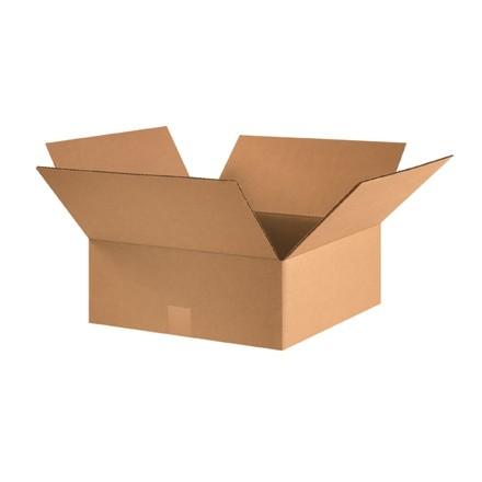"Corrugated Boxes, 16 x 16 x 6"", Kraft, Flat"