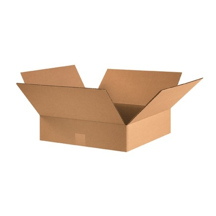 "Corrugated Boxes, 16 x 16 x 3"", Kraft, Flat"