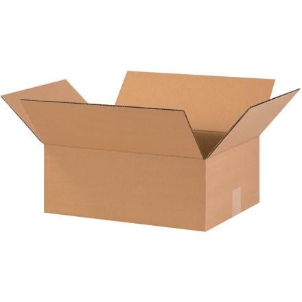 "Corrugated Boxes, 16 x 12 x 6"", Kraft, Flat"