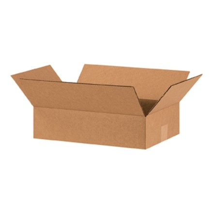"Corrugated Boxes, 16 x 10 x 4"", Kraft, Flat"