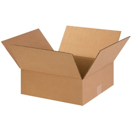 "Corrugated Boxes, 15 x 15 x 5"", Kraft, Flat"