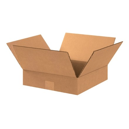 "Corrugated Boxes, 15 x 15 x 3"", Kraft, Flat"