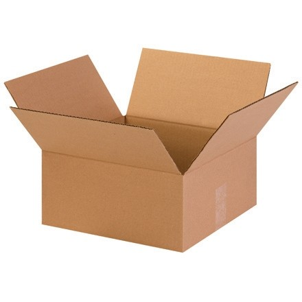 "Corrugated Boxes, 13 x 13 x 6"", Kraft, Flat"