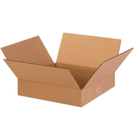 "Corrugated Boxes, 13 x 13 x 3"", Kraft, Flat"