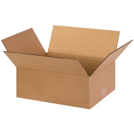 "Corrugated Boxes, 13 x 10 x 5"", Kraft, Flat"