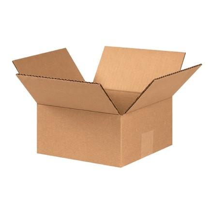 "Corrugated Boxes, 8 x 8 x 4"", Kraft, Flat"