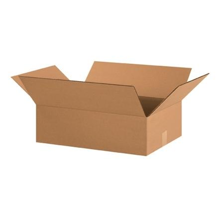 "Corrugated Boxes, 20 x 14 x 6"", Kraft, Flat"