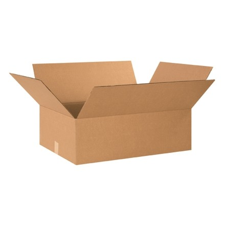 "Corrugated Boxes, 21 3/8 x 15 5/8 x 6 3/8"", Kraft"