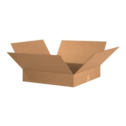 "Corrugated Boxes, 20 x 20 x 4"", Kraft, Flat"