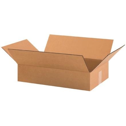 "Corrugated Boxes, 19 x 12 x 3"", Kraft, Flat"