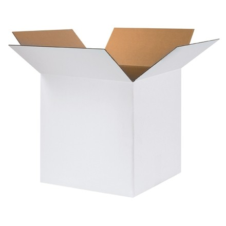 "White Corrugated Boxes, 24 x 24 x 24"", Cube"