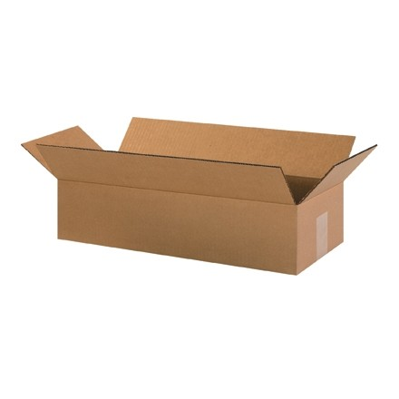 "Corrugated Boxes, 20 x 8 x 4"", Kraft"