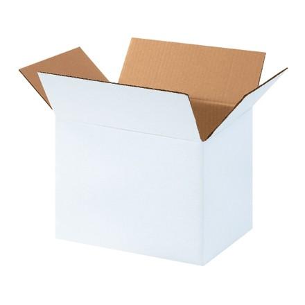 "Corrugated Boxes, 11 1/4 x 8 3/4 x 8"", White"