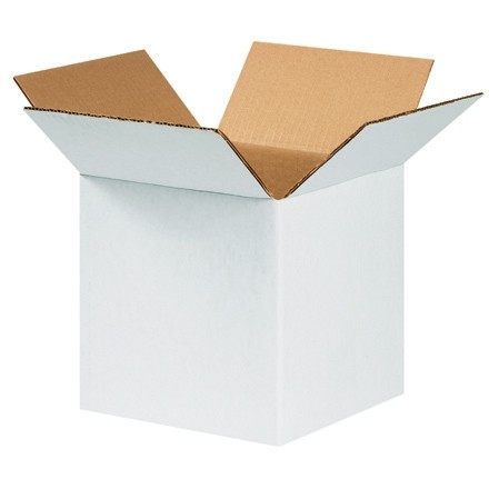 "Corrugated Boxes, 8 x 8 x 8"", White"