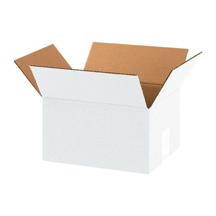 "Corrugated Boxes, 8 x 6 x 4"", White"