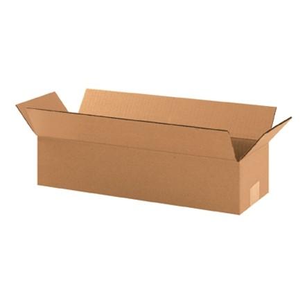 "Corrugated Boxes, 19 x 6 x 4"", Kraft"