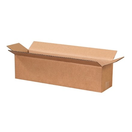 "Corrugated Boxes, 16 x 4 x 4"", Kraft"
