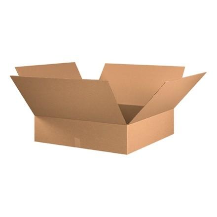 "Corrugated Boxes, 30 x 30 x 8"", Kraft, Flat"