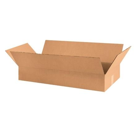 "Corrugated Boxes, 30 x 12 x 6"", Kraft, Flat"