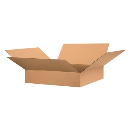 "Corrugated Boxes, 28 x 28 x 6"", Kraft, Flat"