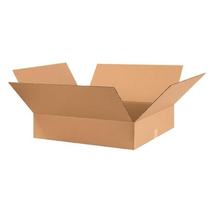 "Corrugated Boxes, 28 x 24 x 6"", Kraft, Flat"