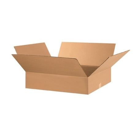 "Corrugated Boxes, 28 x 17 x 5"", Kraft, Flat"