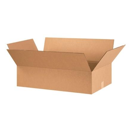 "Corrugated Boxes, 28 x 16 x 7"", Kraft, Flat"