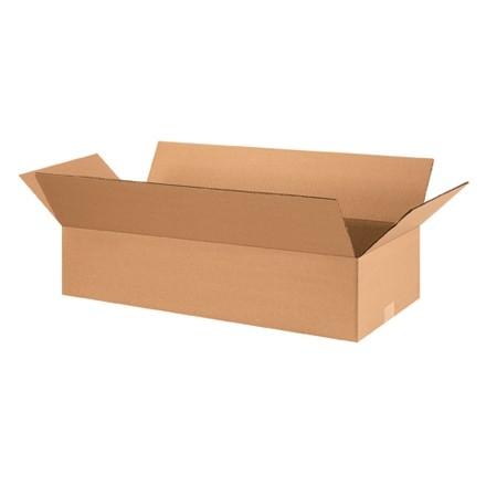 "Corrugated Boxes, 28 x 12 x 6"", Kraft, Flat"