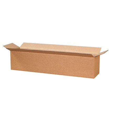 "Corrugated Boxes, 28 x 6 x 6"", Kraft"