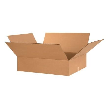 "Corrugated Boxes, 24 x 20 x 8"", Kraft, Flat"