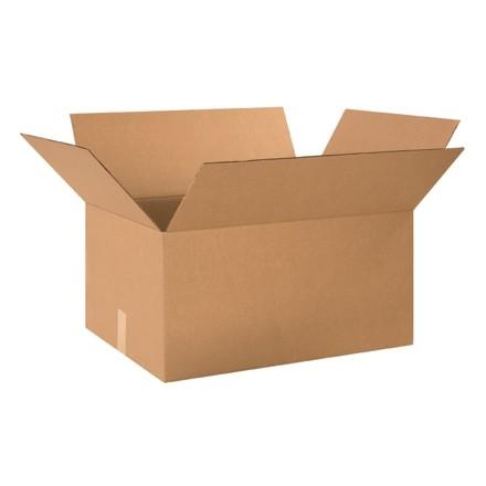 "Single Wall Corrugated Boxes, 24 x 18 x 12"", 44 ECT"