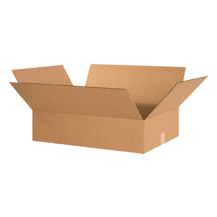 "Corrugated Boxes, 24 x 18 x 6"", Kraft, Flat"