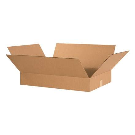 "Corrugated Boxes, 24 x 17 x 3"", Kraft, Flat"
