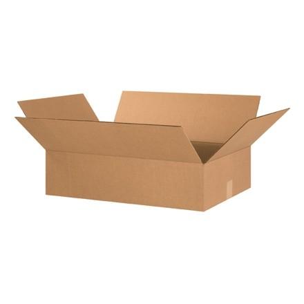 "Corrugated Boxes, 24 x 16 x 6"", Kraft, Flat"